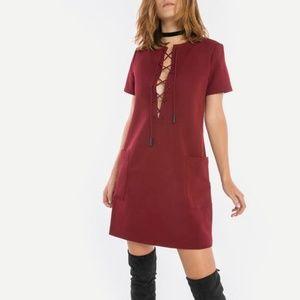 NWT Kendall + Kylie Safari Dress in Bordeaux